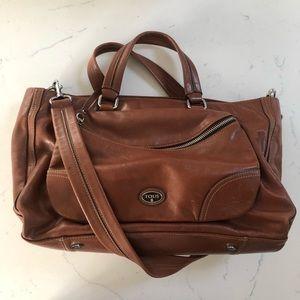 Tous Cognac Brown Leather Convertible Satchel
